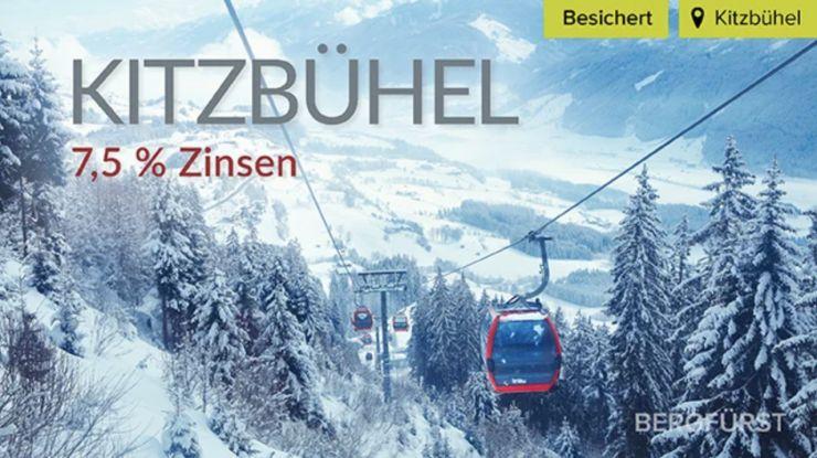"""Neu auf BERGFÜRST Traumvilla """"Kitzbühel"""" – 7,5 % Zinsen p.a. – 38 Monate Laufzeit"""